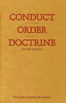 Conduct, Order, and Doctrine of the Church 1